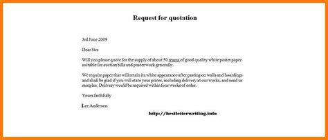 Request Letter Format For Price Quotation 7 Request For Quotation Email Sle Park Attendant