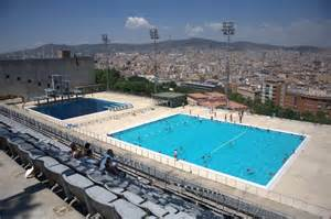 barcelona schwimmbad panoramio photo of barcelona olympic swimming pools