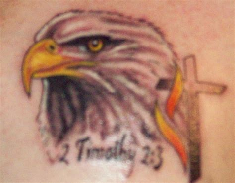 eagle cross tattoo eagle and cross picture