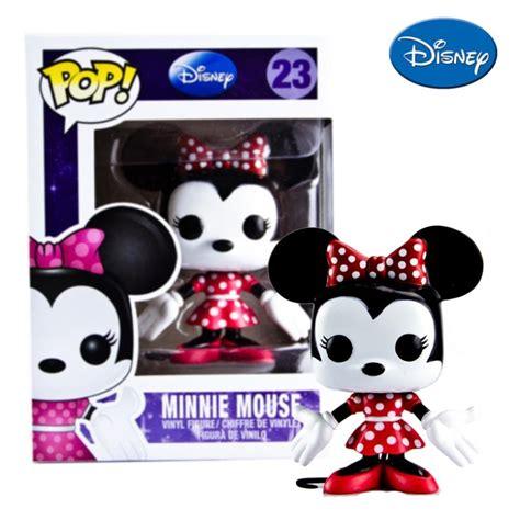Kaos Mickey Minnie Pop genuine funko pop minnie mouse vinyl dolls pop funko vinyl figures in figures from