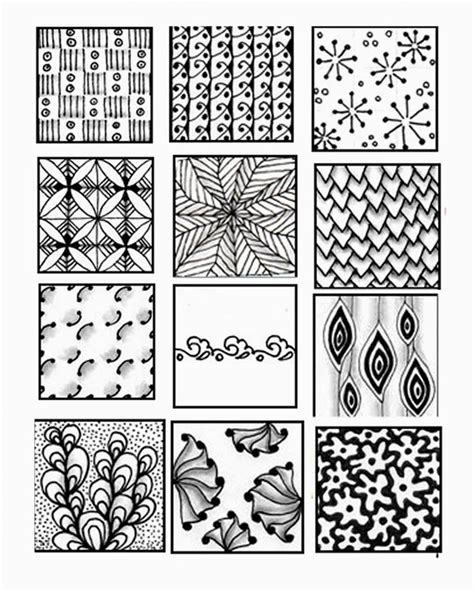 pattern drawing sheet 433 best zentangle patterns images on pinterest doodles