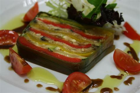 9 vegetables terrine country gourmet traveler roast vegetable terrine