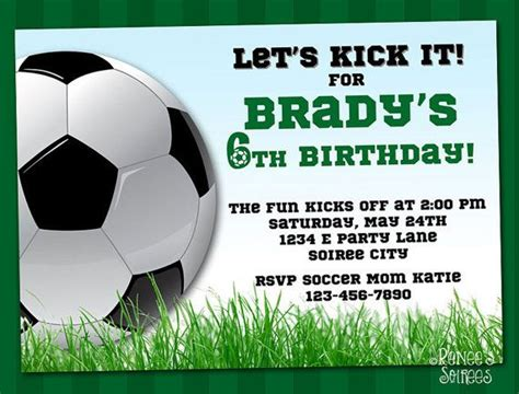 Soccer Invitation Template by Soccer Invitation Printable Football Birthday Invite