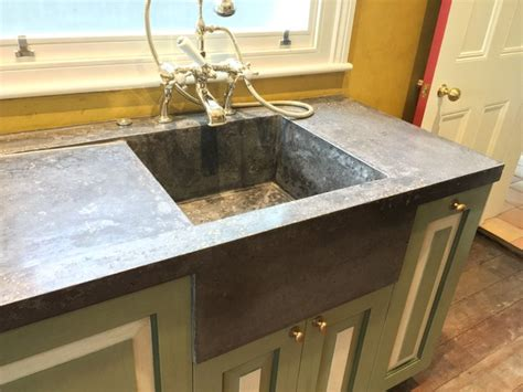 Kitchen Worktops With Integral Sinks Kensal Green Seamless Polished Concrete Worktop With