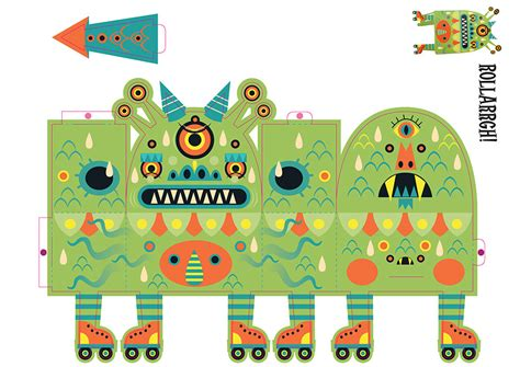 Paper Toys - paper toys monsters gingko pressgingko press