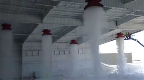 aloha air cargo hangar foam fire suppression test youtube