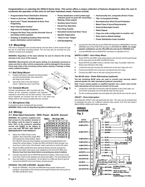 whelen siren 295slsa6 manual wiring diagrams repair