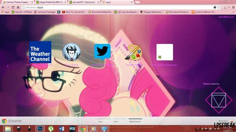 chrome themes hipster hipster pinkie pie google chrome theme by illumnious on