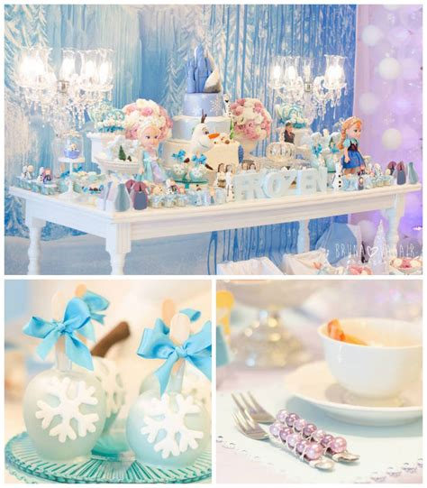 frozen birthday theme decorations kara s ideas frozen themed birthday