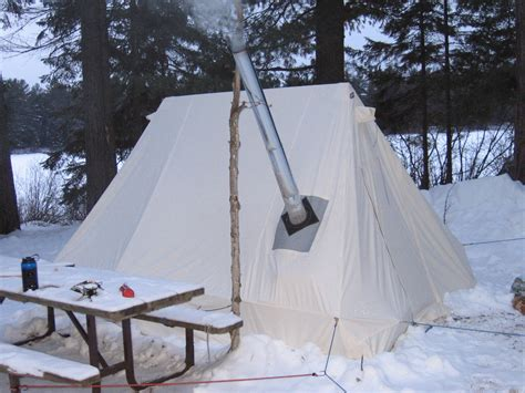 winter tents with wood stove tent idea