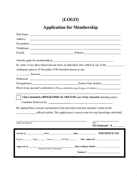 membership form template pictures to pin on pinterest