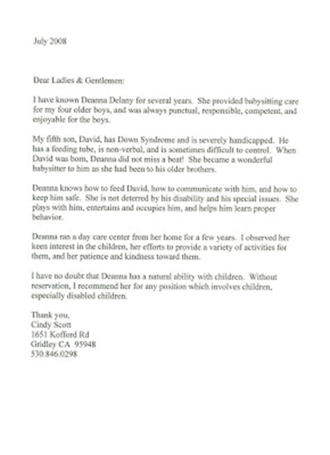 Recommendation Letter For Preschool From Parent Letters Of Recommendation For The Teachers At The Learning Garden Preschool