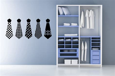 Sticker Closet items similar to s neck ties decal sticker vinyl wall home office bedroom closet