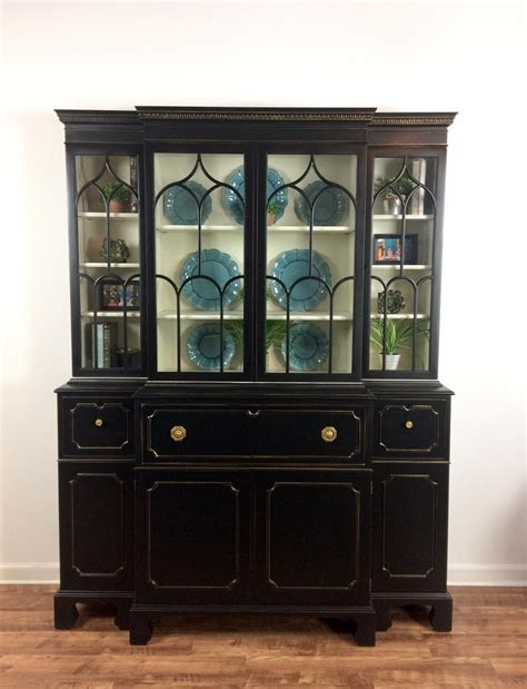 china cabinet in china cabinet in l black antique white paint