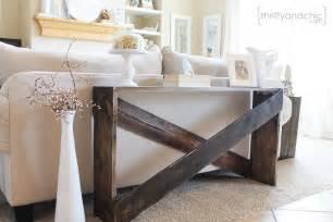 Diy Sofa Table Remodelaholic Build It X Brace Concrete Side Table
