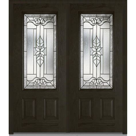Mmi Door 74 In X 81 75 In Cadence Decorative Glass 3 4 Decorative Glass Entry Doors