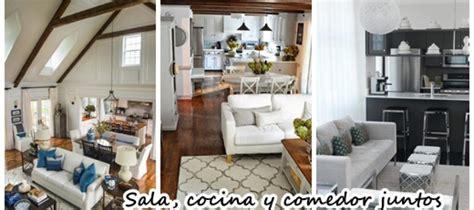 decorar sala comedor cocina juntos 26 ideas para integrar sala comedor y cocina juntos
