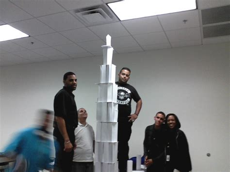 How To Make A Tower With One Of Paper - team building my humanities class