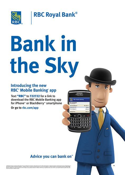 rbc royal bank mobile banking app launch  behance