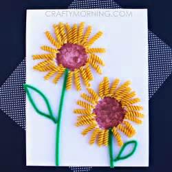 Easy Kids Crafts For Summer - make a sunflower craft using noodles crafty morning