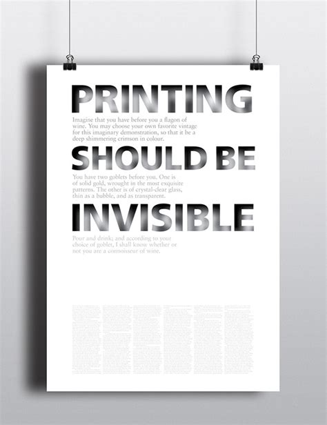 Beatrice Warde Goblet Sixteen Essays Typography by Printing Should Be Invisible Poster On Behance