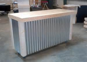Galvanized Home Decor handmade corrugated metal bar by ambassador woodcrafts