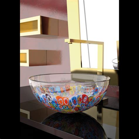 glass bowl vessel sink murano laguna murrine glass vessel sink