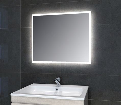 Contemporary Bathroom Mirror Adara Led Mirror Modern Bathroom Mirrors And The Humber By Pebble Grey