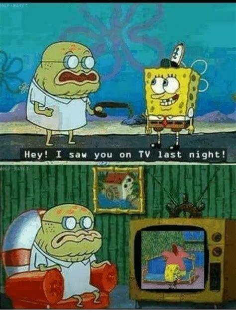 Spongebob At Night Meme
