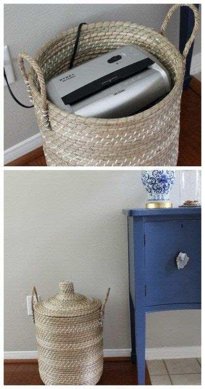 decorative paper shredder home office storage and organization ideas lures and lace