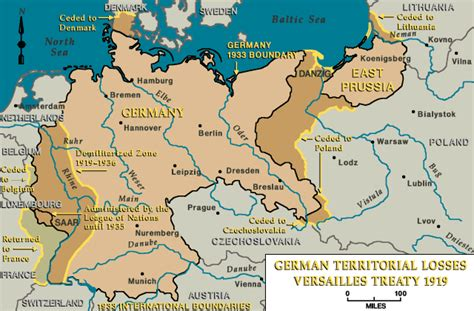 germany ww1 map territories lost by germany after ww1