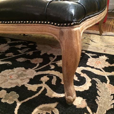 buttoned ottoman coffee table very large button tufted black faux leather ottoman coffee