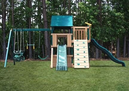 lookout swing set congo safari deluxe lookout and climber swing set
