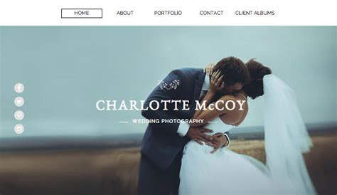 photographer templates photography website templates wix