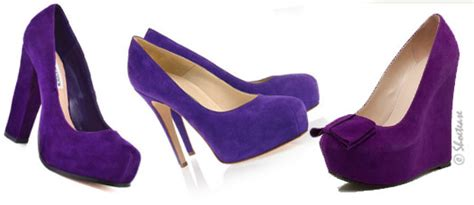 purple shoos in drug stores celebs go gaga over purple shoes