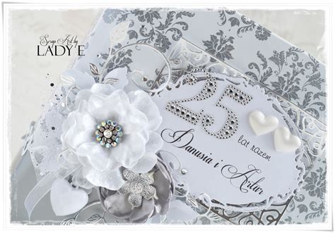 Wedding Anniversary Album by Silver Wedding Anniversary Album Card Scrap By E