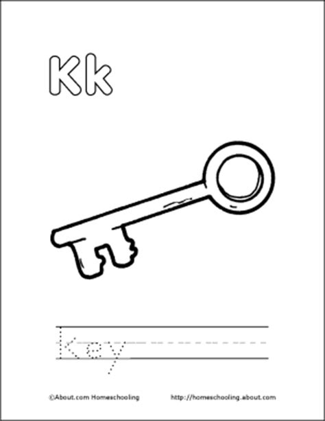 key coloring pages preschool coloring picture of a key clipart best