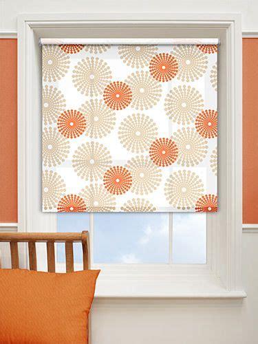 orange patterned roller blind salina orange roller blind from blinds 2go for the