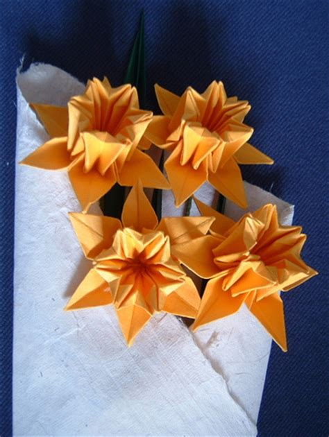 How To Make Paper Daffodils - origami daffodils flickr photo