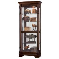 Curio Cabinets Howard Miller Cherry Modern Curio Display Cabinet 680501