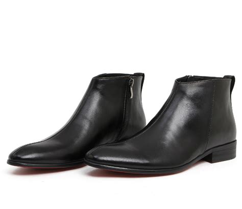 2014 new brand mens ankle boots black business