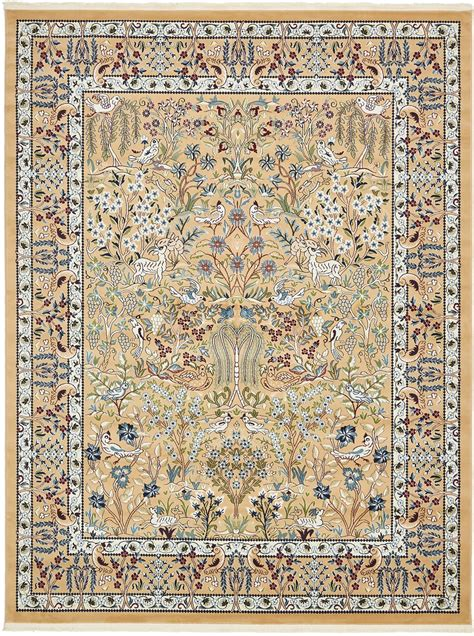 Botanical Area Rugs Country Floor Carpet Traditional Area Rug Floral Carpets Fringe Botanical Rugs Ebay