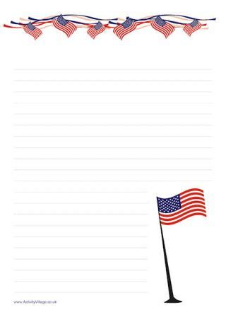 printable lined paper with star border search results for american themed border paper with