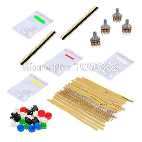 arduino switch resistor value ws16 universal electronic parts component package kit for arduino starter with resistors leds