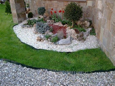 blumenbeet gestalten 1001 ideen zum thema blumenbeet mit steinen dekorieren