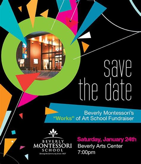 fundraiser save the date card downloadable templates current families beverly montessori school