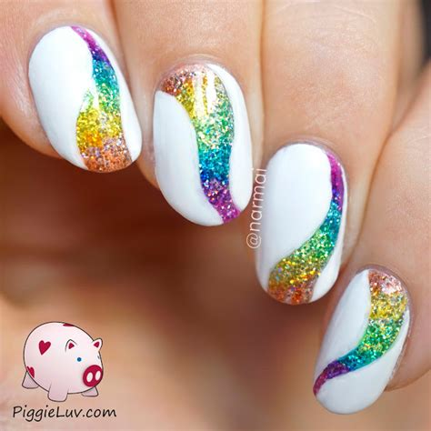 piggieluv glitter tornado nail with opi color paints