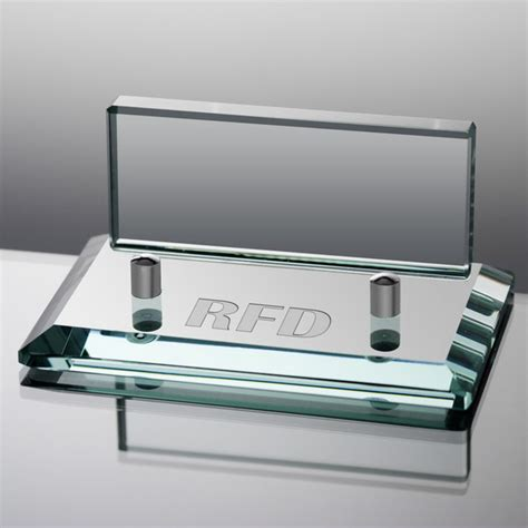 Business Card Holder Engraved Gift - personalized jade glass business card holder