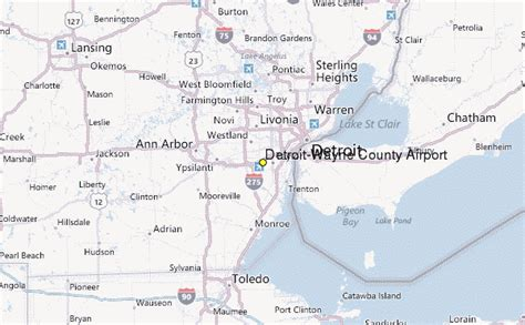 wayne airport map detroit wayne county airport weather station record