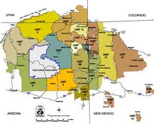 navajo nation map arizona hunt units